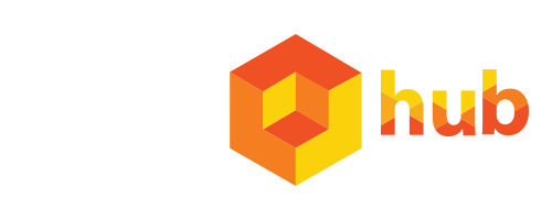 Logo iComhub_png_bianco e colori